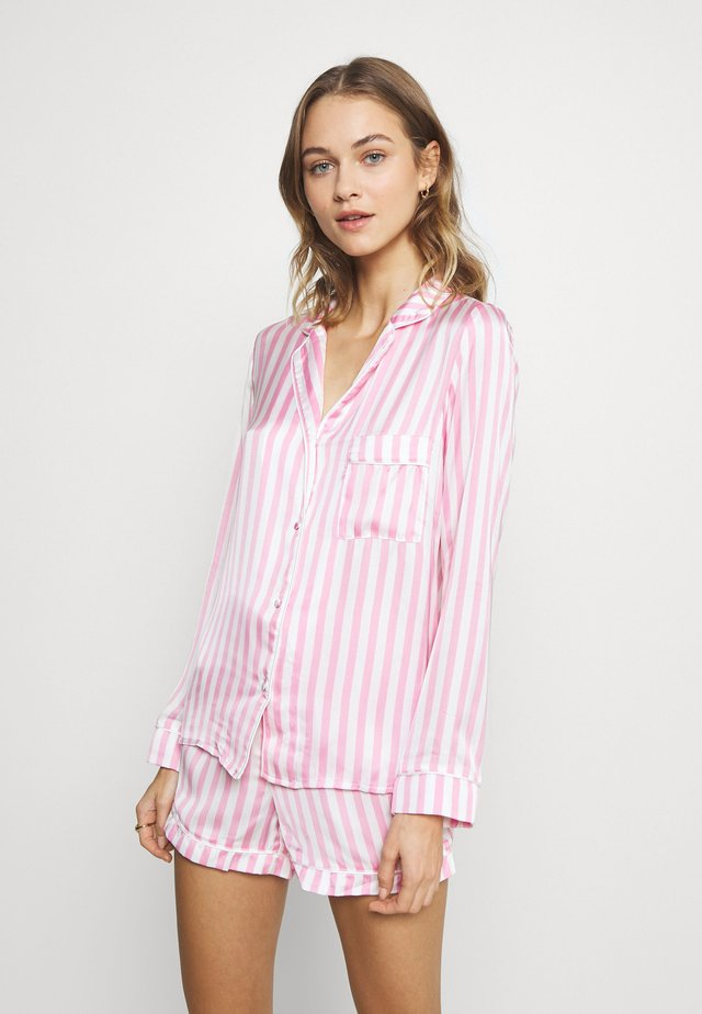 STRIPE SET - Pyžamo - pink