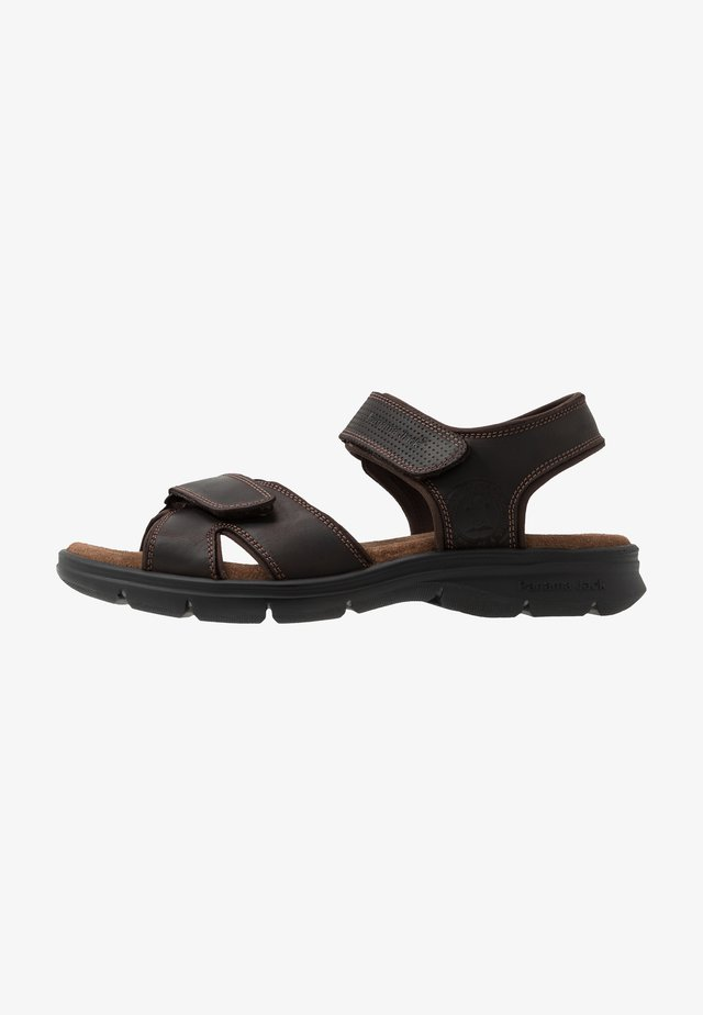 SANDERS BASICS - Sandales - grass marron/brown