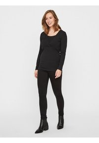 MAMALICIOUS - NURSING 2PACK - Bluzka z długim rękawem - black/black - 1
