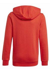 adidas Performance - ADIDAS ESSENTIALS HOODIE - Jersey con capucha - red - 1