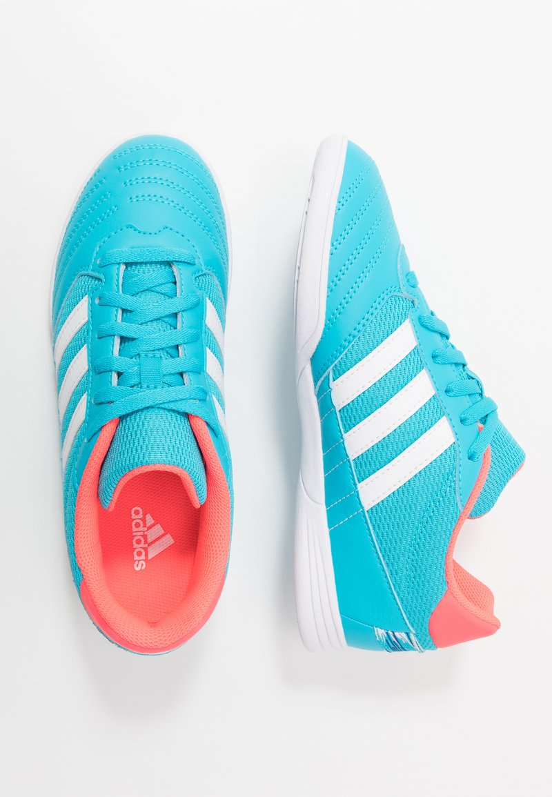 adidas Performance - SUPER SALA UNISEX - Indoor football boots - signal cyan/signal pink/royal blue