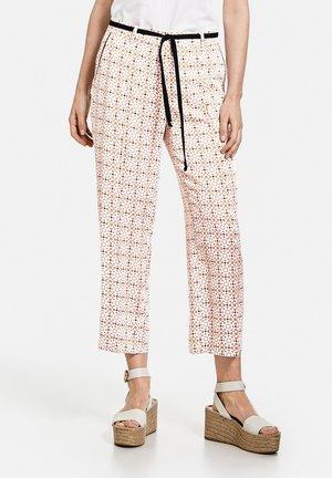 Trousers - braun/ecru/weiss druck