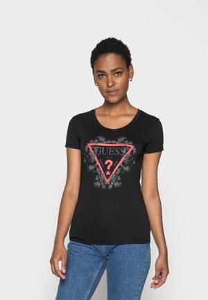 ROSES TEE - T-shirts print - jet black