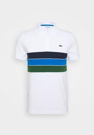 RAINBOW STRIPES - Koszulka polo - blanc /vert/bleu/bleu marine