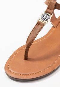 TOM TAILOR - T-bar sandals - cognac - 2