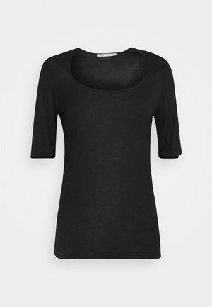 PAOLINA - Basic T-shirt - black