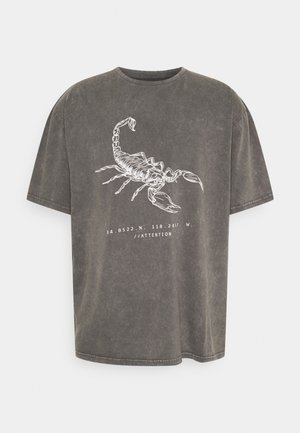 ACID WASH TIGER GRAPHIC UNISEX  - T-shirts med print - grey