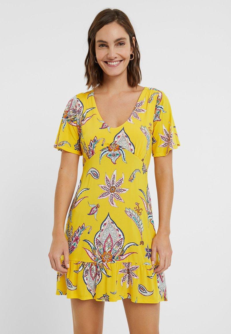 Desigual - LEMARK - Day dress - yellow