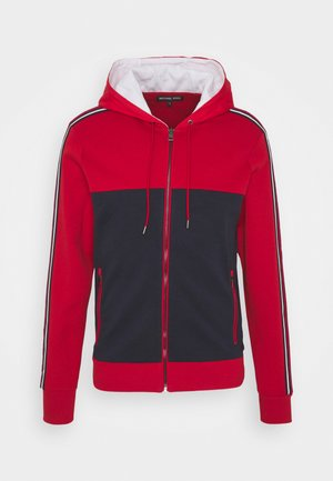 MIX MEDIA LOGO HOODIE - veste en sweat zippée - crimson