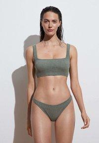 OYSHO - CLASSIC - Bikini bottoms - green - 1
