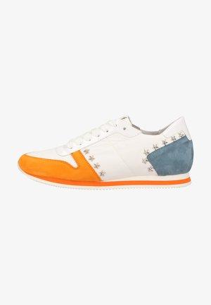 Sneakers laag - orange weiss kombi