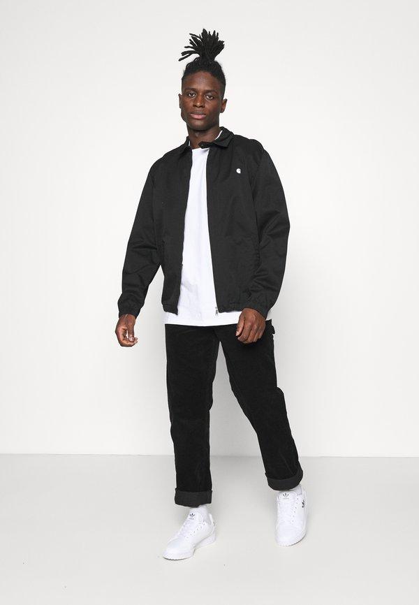 Carhartt WIP WAVY STATE - T-shirt z nadrukiem - white/black/biały Odzież Męska DNGP