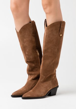 HOLLY KNEE HIGH  - Santiags - cognac