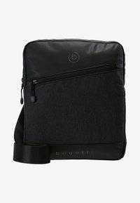 Bugatti - SMALL CROSSBODY BAG - Taška spříčným popruhem - black/grey - 6