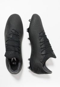 adidas Performance - X 19.2 FG - Moulded stud football boots - core black/utility black/ silver metallic - 1