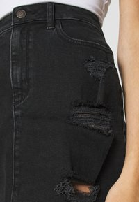 Hollister Co. - Denimová sukně - black destroy - 5