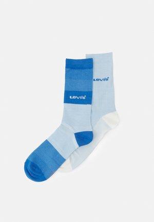 GRADIENT STRIPE REGULAR CUT 2 PACK - Socks - white/blue