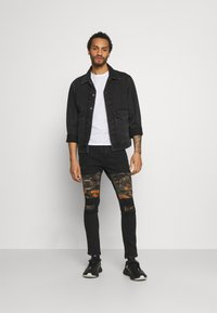 Brave Soul - ROBBIN CAMOO - Jeans Skinny Fit - charcoal wash - 1