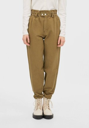 TWILL-BAGGY - Trousers - khaki