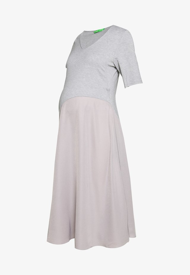 DELWEN DRESS - Jersey dress - heather grey