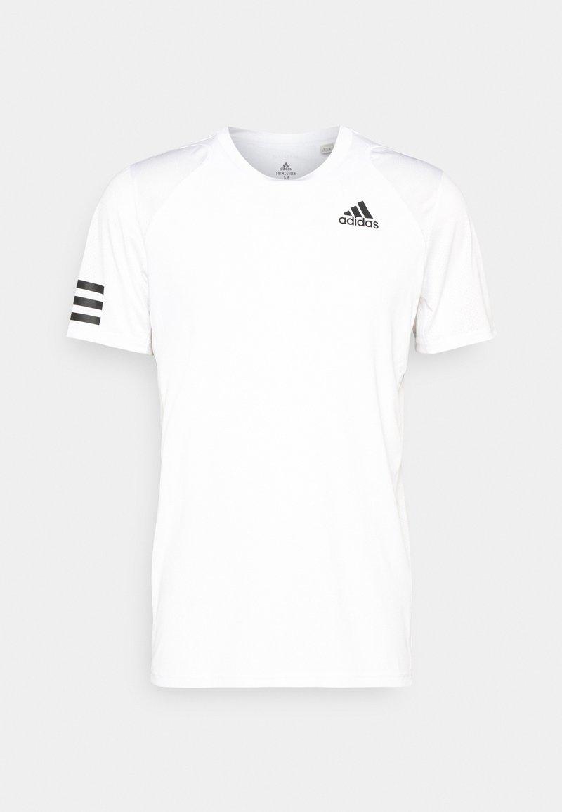 adidas Performance - CLUB TEE - T-shirt med print - white/black