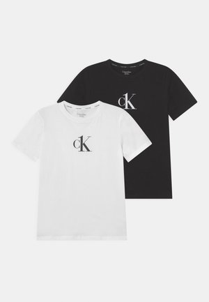 2 PACK - Print T-shirt - white/black