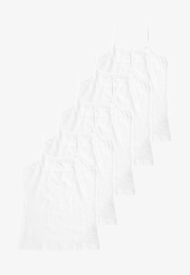CAMI 5 PACK - Linne - white