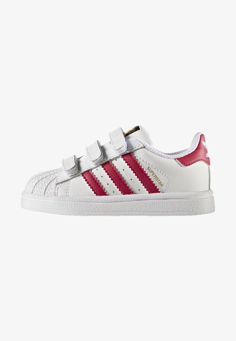 adidas Originals - SUPERSTAR CF  - Baby shoes - white/bold pink