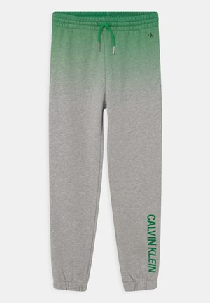 GRADIENT LOGO  - Teplákové kalhoty - green/mottled grey