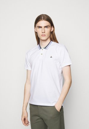 CLASSIC STRIPE COLLAR - Polo shirt - white