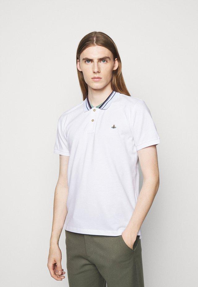 CLASSIC STRIPE COLLAR - Poloshirt - white