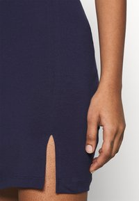 Even&Odd - Basic mini skirt with slit - Minisukně - blue - 5