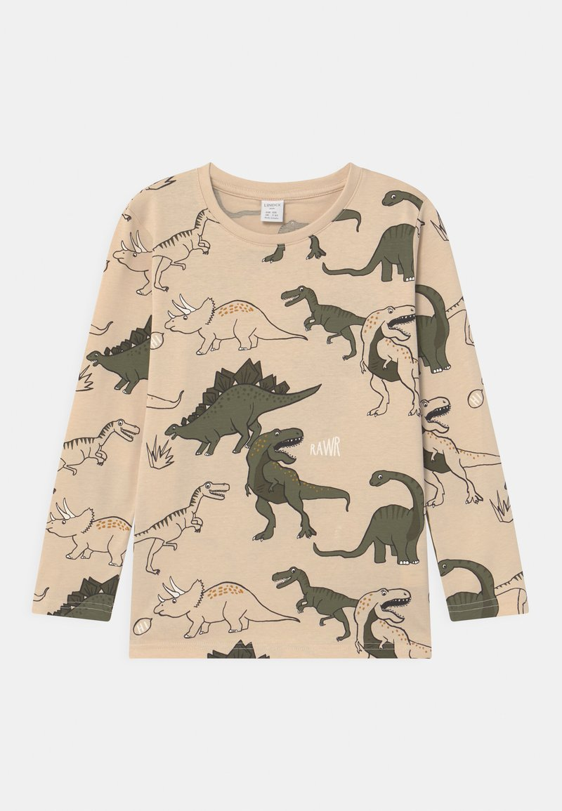 Lindex - MINI DINO  - Long sleeved top - light beige