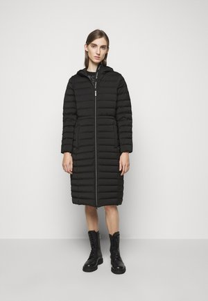 LONG STRETCH PACKABLE - Down coat - black
