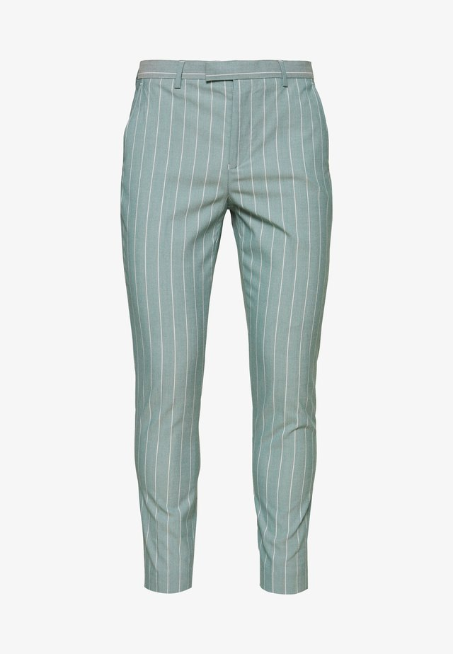 MOORE PIN STRIPE TROUSER SKINNY - Broek - green