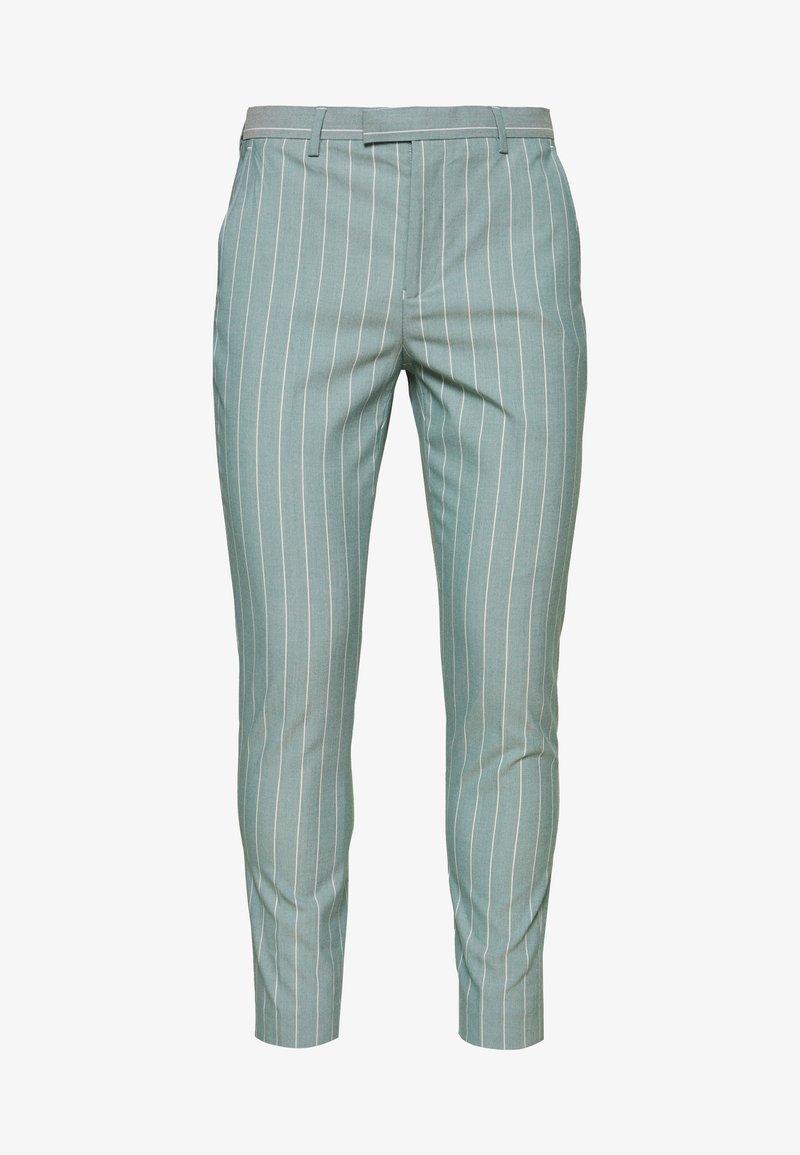 1904 - MOORE PIN STRIPE TROUSER SKINNY - Pantaloni - green