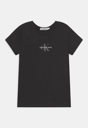 MICRO MONOGRAM - Jednoduché triko - black