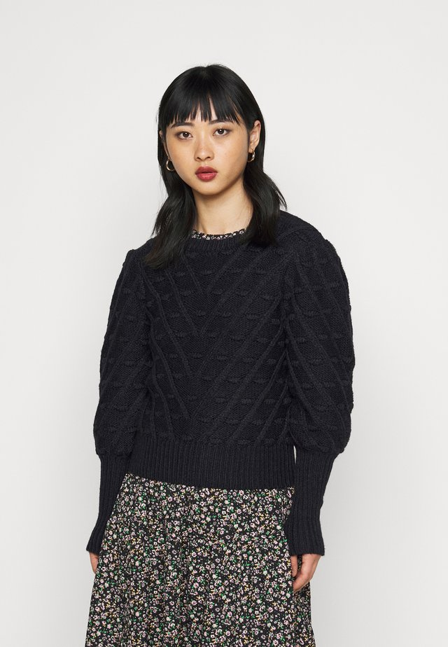 BOBBLE JUMPER - Trui - navy