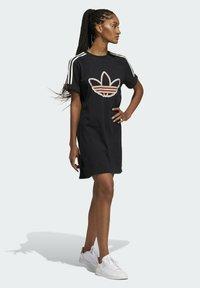 adidas Originals - LOVE UNITES T D - Jersey dress - black - 0