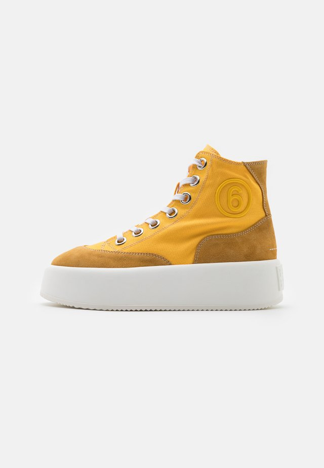 Sneakers hoog - spectra yellow/spruce