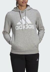 adidas Performance - ESSENTIALS LOGO FLEECE HOODIE - Felpa con cappuccio - grey - 3