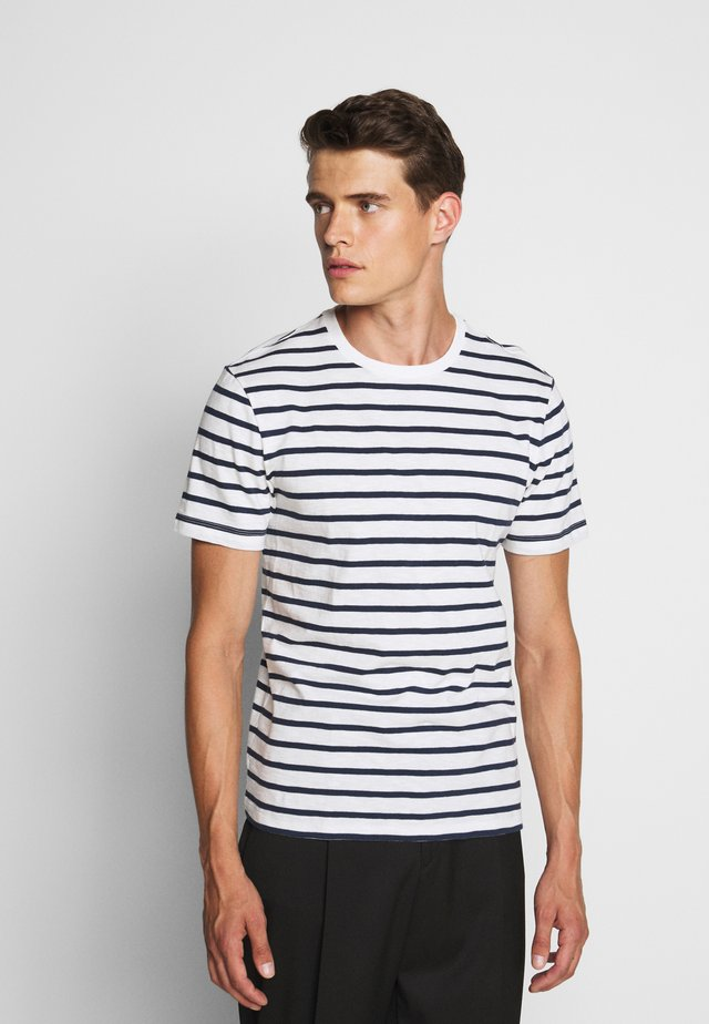 SLUB DECK STRIPE TEE - T-shirt imprimé - mountain white