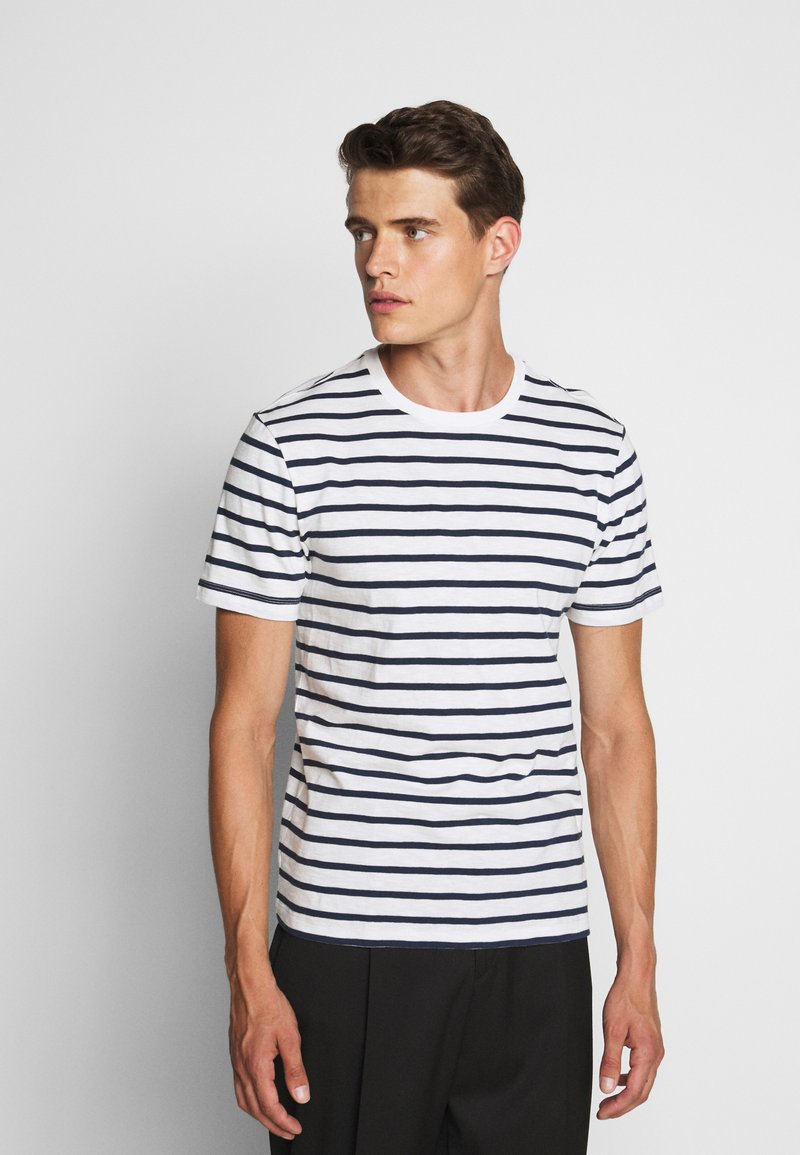 J.CREW - SLUB DECK STRIPE TEE - T-shirt imprimé - mountain white
