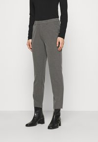 Anna Field - Slim fit business trousers - Trousers - mottled dark grey - 0