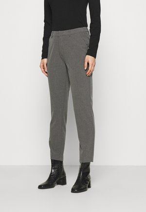Slim fit business trousers - Tygbyxor - mottled dark grey