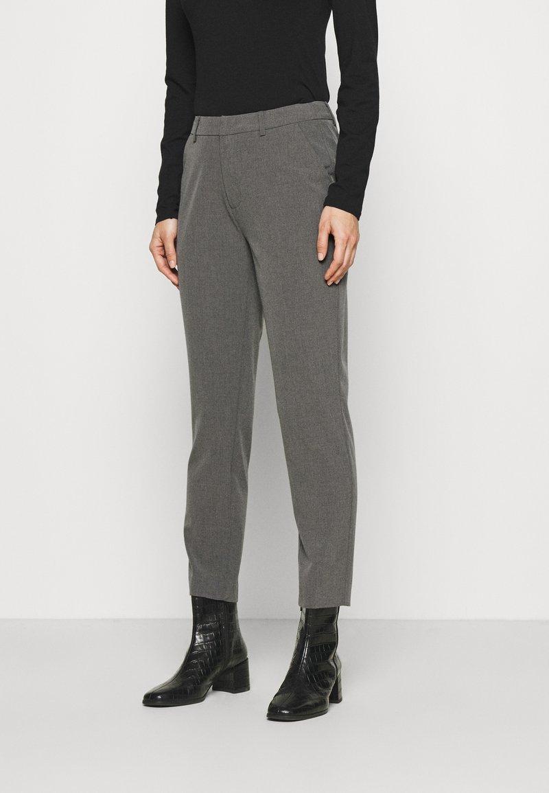 Anna Field - Slim fit business trousers - Trousers - mottled dark grey