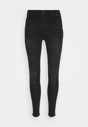 SIKSILK SKINNY DISTRESSED - Skinny džíny - carry over
