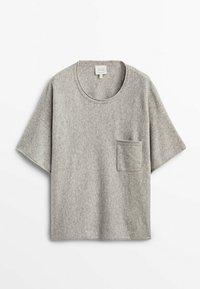 Massimo Dutti - STRICKSHIRT  - Basic T-shirt - grey - 1