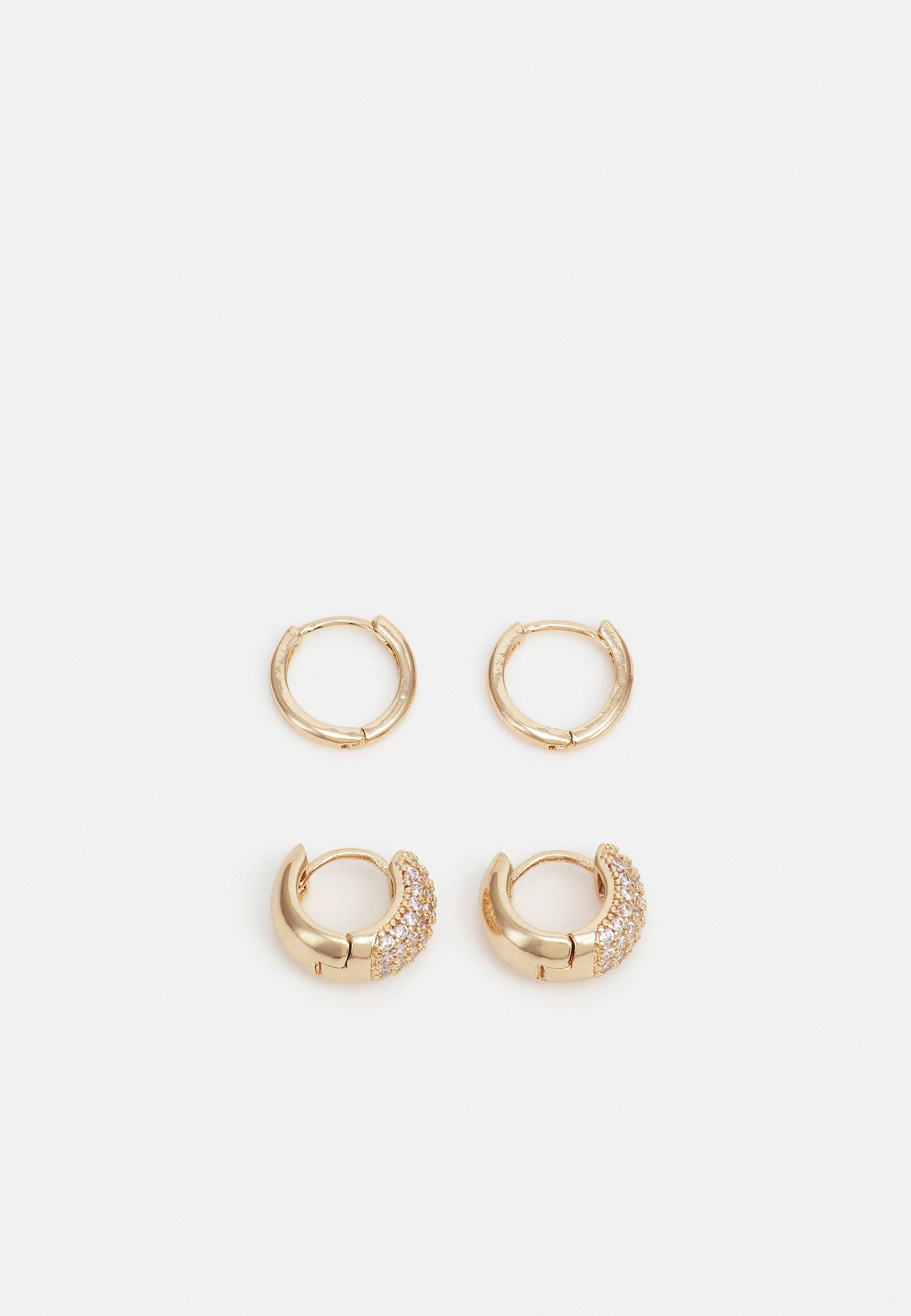 Women FPPEGGY GOLD PLATED EARRINGS ZAL 2 PACK - Earrings