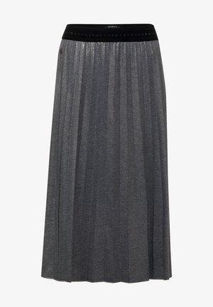 MIT GLITZER COATING - A-line skirt - grau